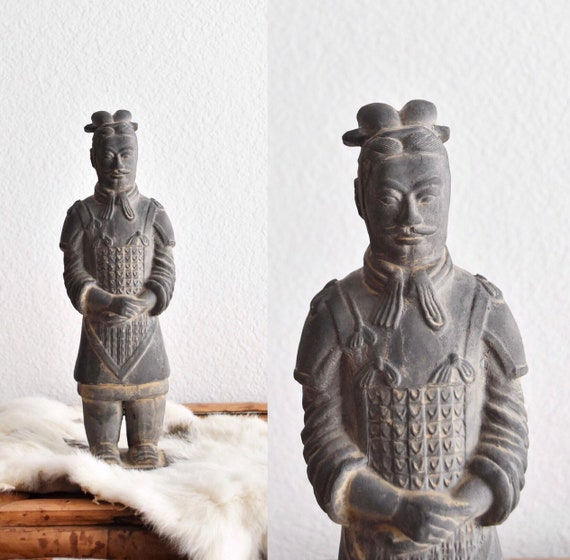 chinese terracotta warriror soldier | qin dynasty army ceramic clay fighter figurine sculpture