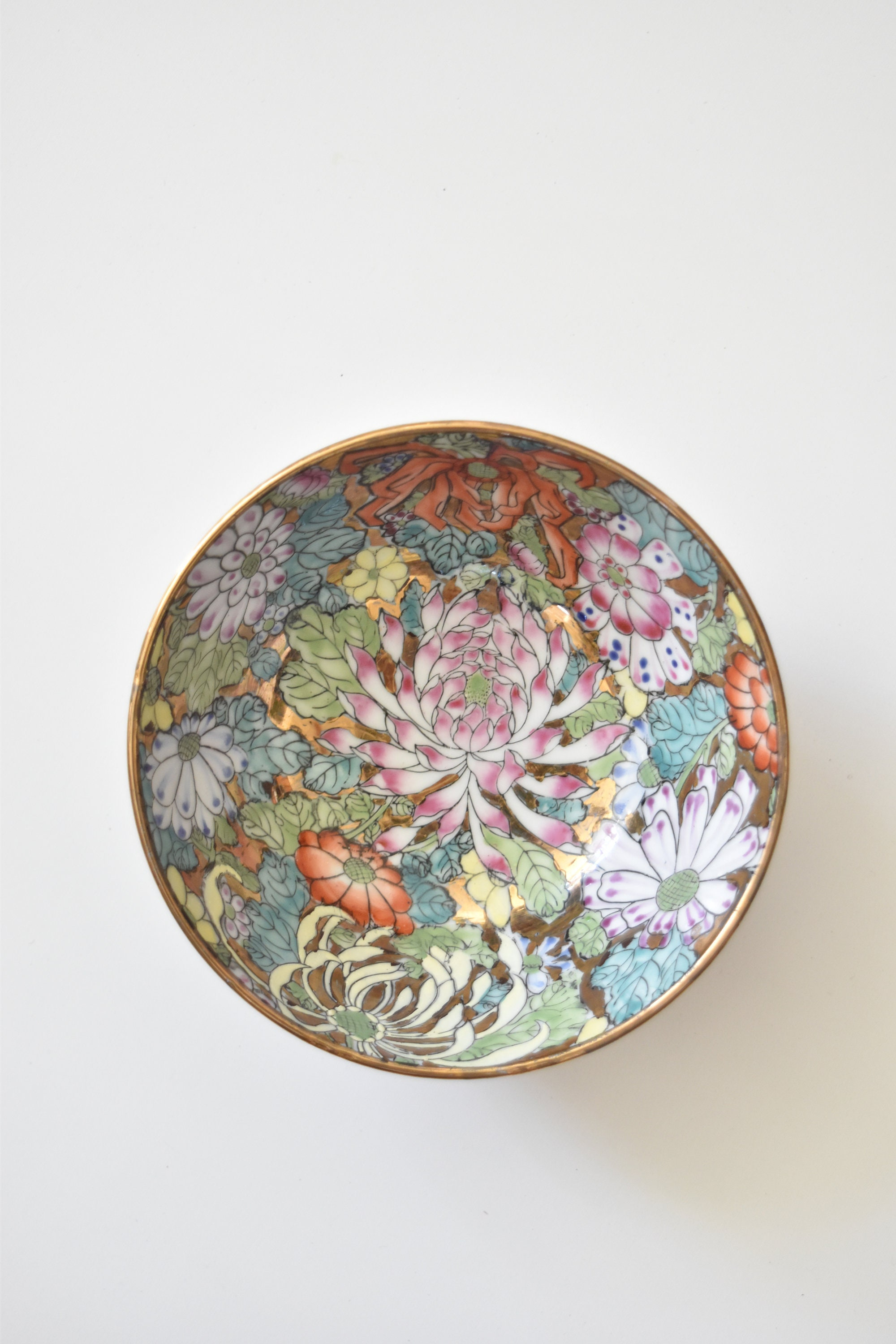 Decorative gorgeous pink hand painted floral chinese asian bowl decorative gorgeous pink hand painted floral chinese asian bowl lotus flower pattern izmirmasajfo