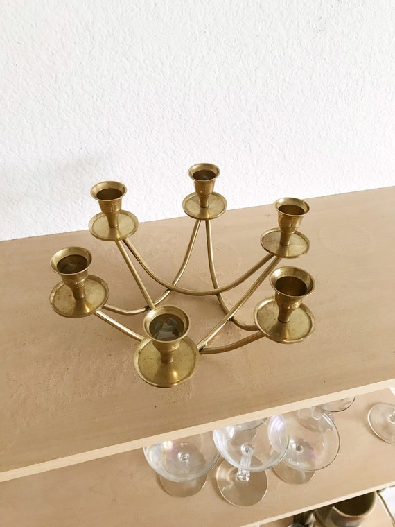 ornate solid brass candelabra / statement candlestick candleholder set