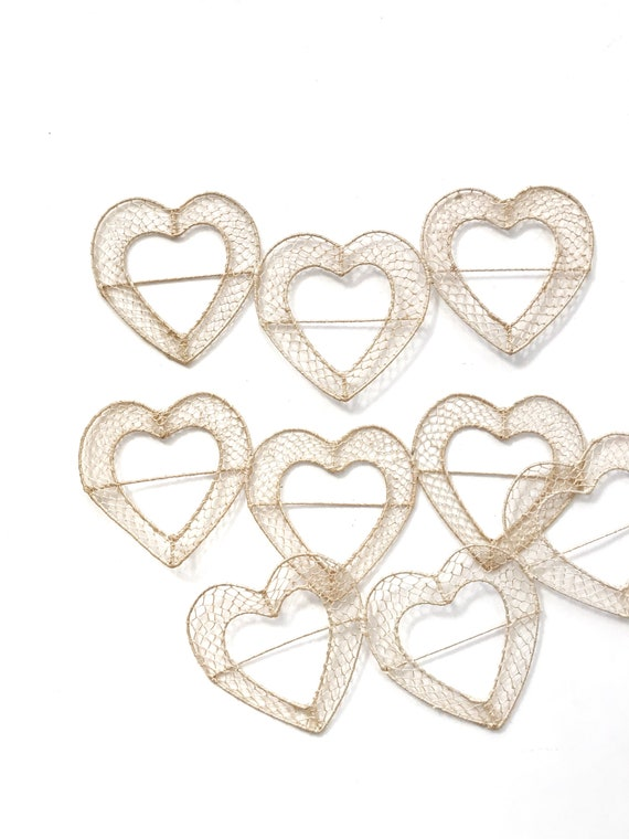 Valentine's Day woven straw heart wall art / wall hanging basket