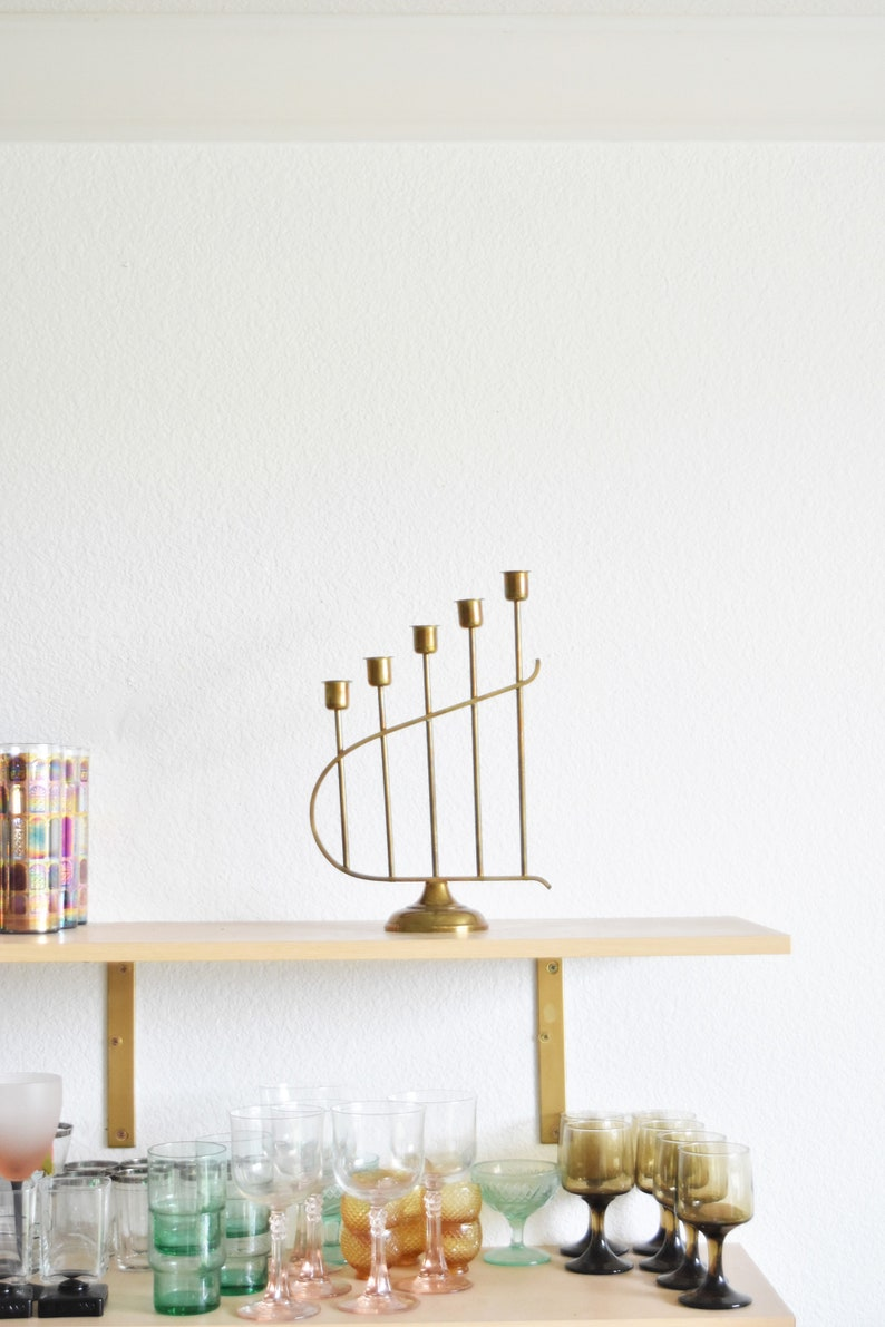 ornate brass candelabra  statement candlestick candleholders  1 candleholder