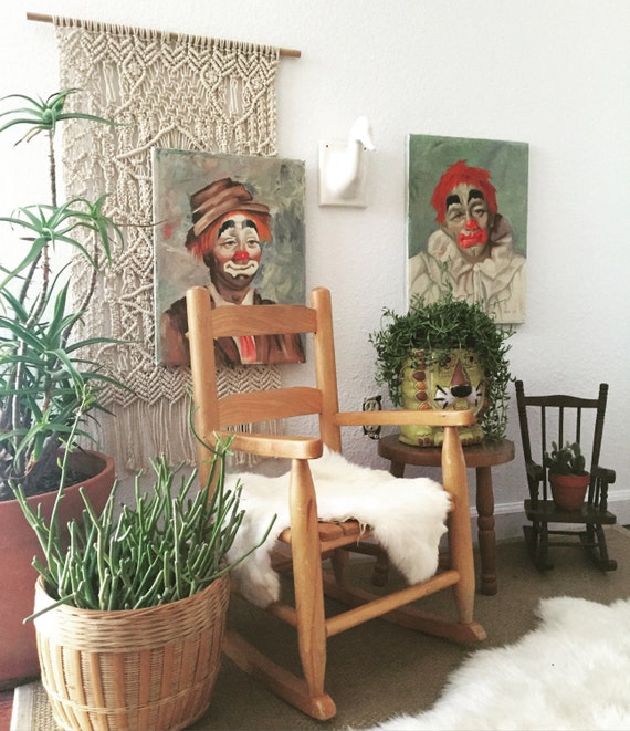 vintage children's wooden rocking chair / baby nursery / kid's bedroom