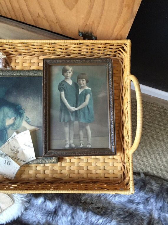 vintage framed sisters print