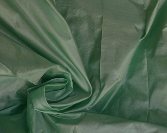 Fine Indian Silk Taffeta in sea green, Fat quarter -TF 104