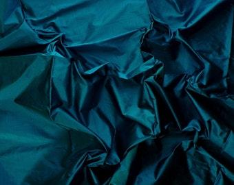 Fine Indian Silk Taffeta in  Unique Blue- Fat quarter, Half yard,Yard & Meter -TF 36