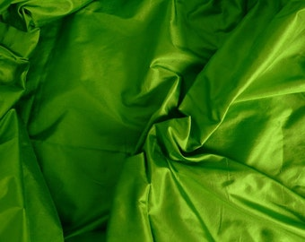 Fine Indian Silk Taffeta in Lime Green, Fat Qurter- TF 13