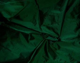 Fine Indian Silk Taffeta in Dark Green-Black Fat quarter, half yard,Yard & Meter-TF 47
