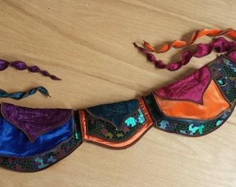 Festival Utility belt with Ties - Super Rainbow - Costume - Pocket Belt - Fanny pack