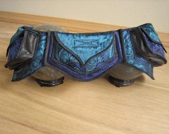 Festival Utility belt - Blue Mermaid - Costume - Pocket Belt - Fanny pack