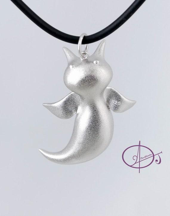 Sea Angel Clione Necklace Sterling Silver 3D Ocean animal Sea Slug pendant Sealife Marine Scuba diving gift Angel of the Sea