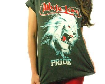 Vintage WHITE LION shirt 1988 Pride Tour Concert shirt Band Tee Bon Jovi shirt guns n roses shirt 1980s Heavy Metal shirt Metal Tee S