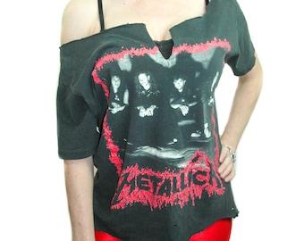 Vintage Metallica shirt 1990 European Tour Concert shirt Band tee Metallica Tee Thrash Metal shirt Metal shirt Heavy Metal shirt