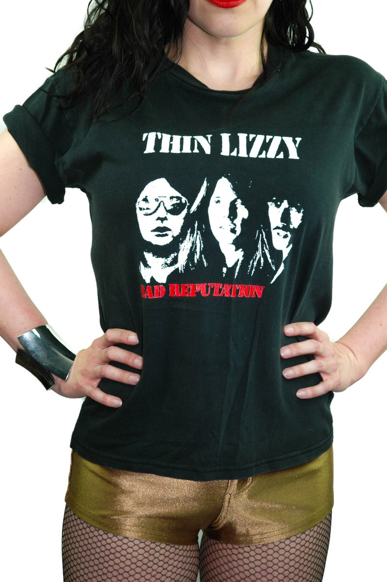 d6a024c83e1 Vintage THIN LIZZY shirt Bad Reputation 90s Trash and