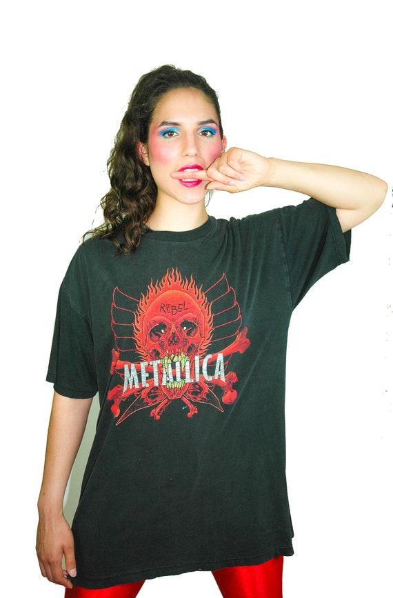 Vintage Metallica shirt REBEL Concert shirt Band T