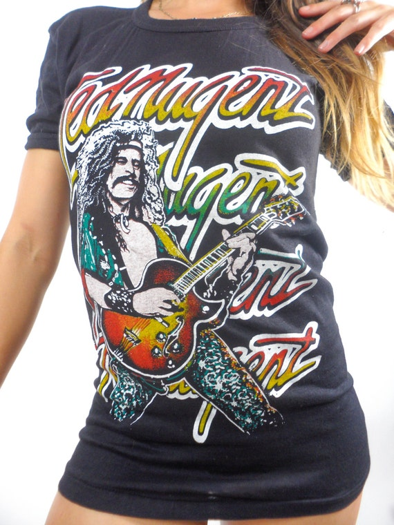 Vintage Ted Nugent Tee 70s Band Tee Concert shirt
