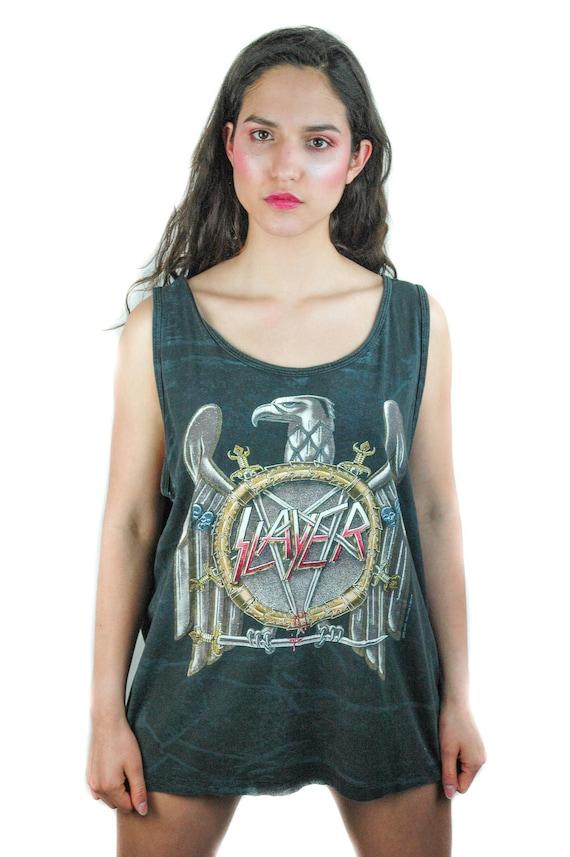 Vintage Slayer shirt 1990 Tank Top Concert shirt B