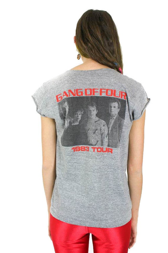 Vintage Gang of Four Tee 80s Tour Punk Soft Thin B