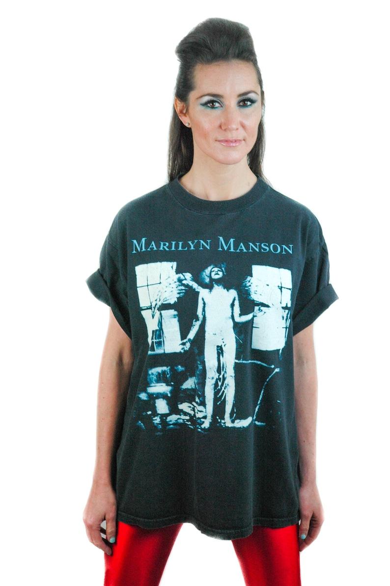 561a17d1db9677 Vintage Marilyn Manson shirt Concert shirt Band Tee L