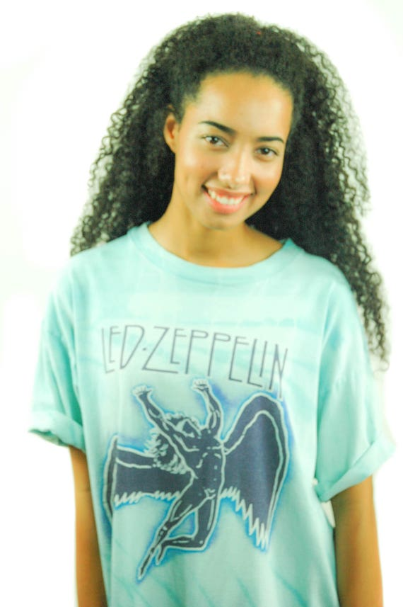Vintage Led Zeppelin Shirt 1984 Tye Dye Swan Song