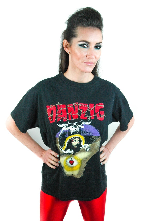 Vintage DANZIG shirt 1990 Long Way Back From Hell