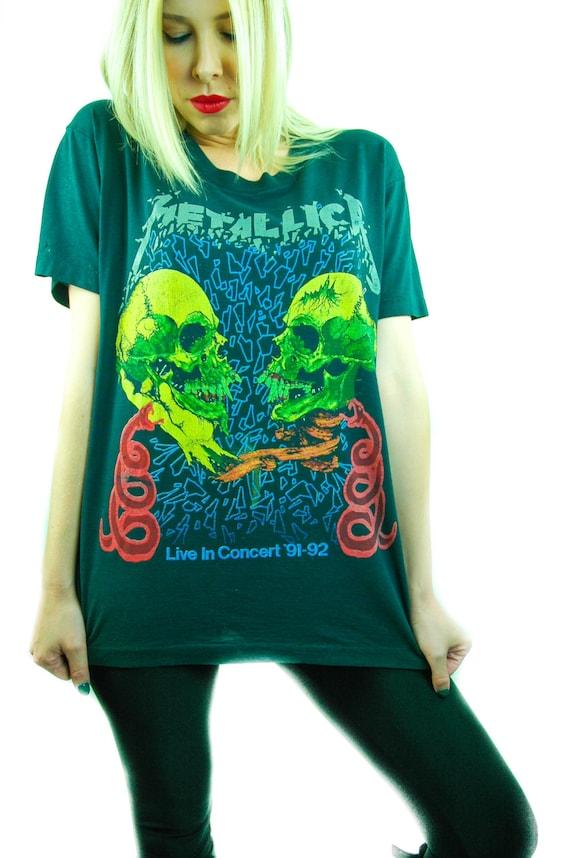 Vintage Metallica Shirt 90s Band Tee Concert shirt