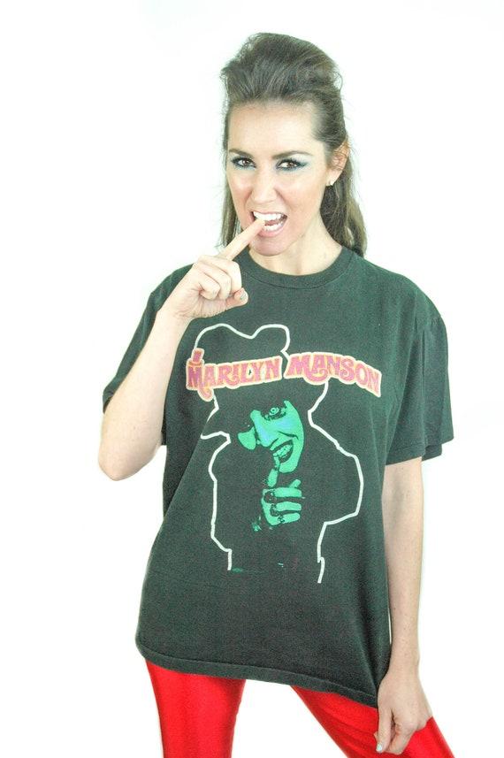 035a4fd730852d Vintage Marilyn Manson shirt Dope Fiend Concert shirt Band tee