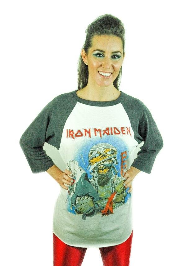 Vintage Iron Maiden shirt 1985 California Concert