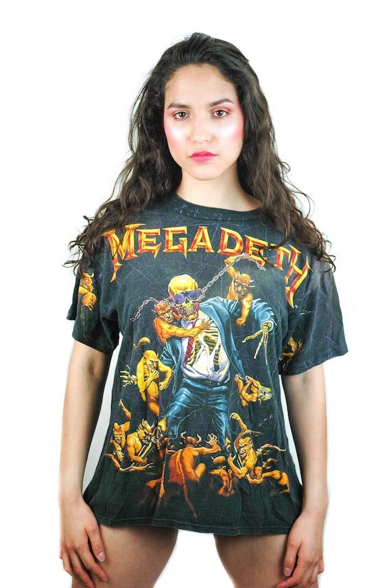 Vintage MEGADETH shirt All Over Print 1991 Vic Rat