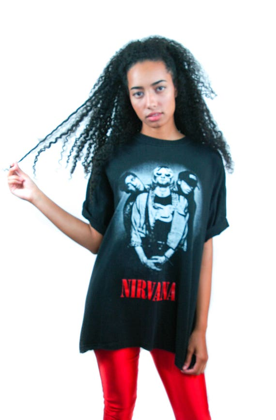 Vintage NIRVANA Shirt 1990s Concert Shirt Band Tee