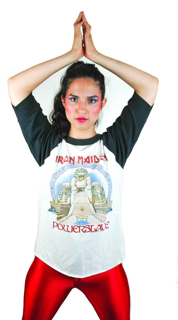 Vintage Iron Maiden shirt 1985 World Slavery Tour