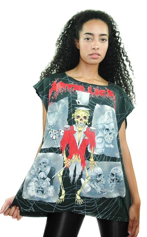 Vintage METALLICA Shirt 1990s All over Print Pushe