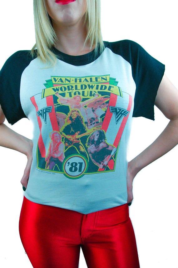 8d62f612564 Vintage Van Halen Shirt 1981 World Tour Concert shirt Band tee