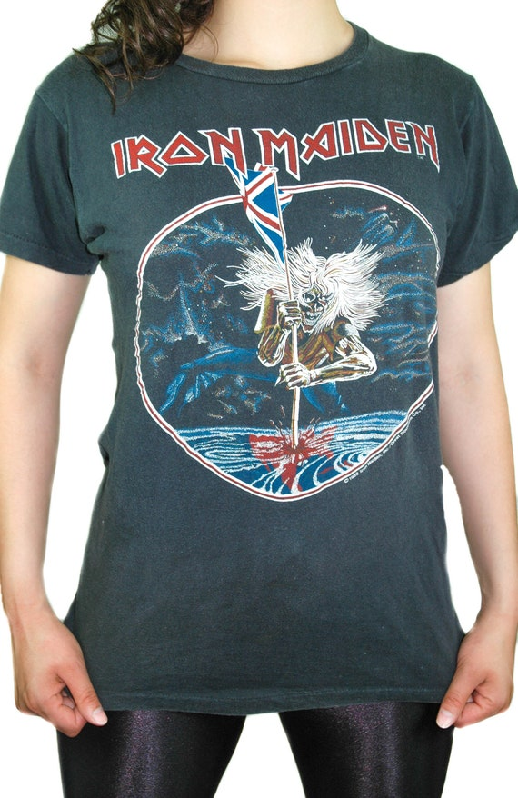 Vintage Iron Maiden Shirt 1982 Beast On The Road C