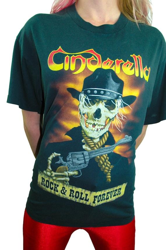 Vintage Cinderella Shirt 80s Band Tee Concert shir