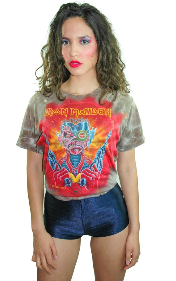 Vintage Iron Maiden Shirt 1987 Band Tee Concert Sh