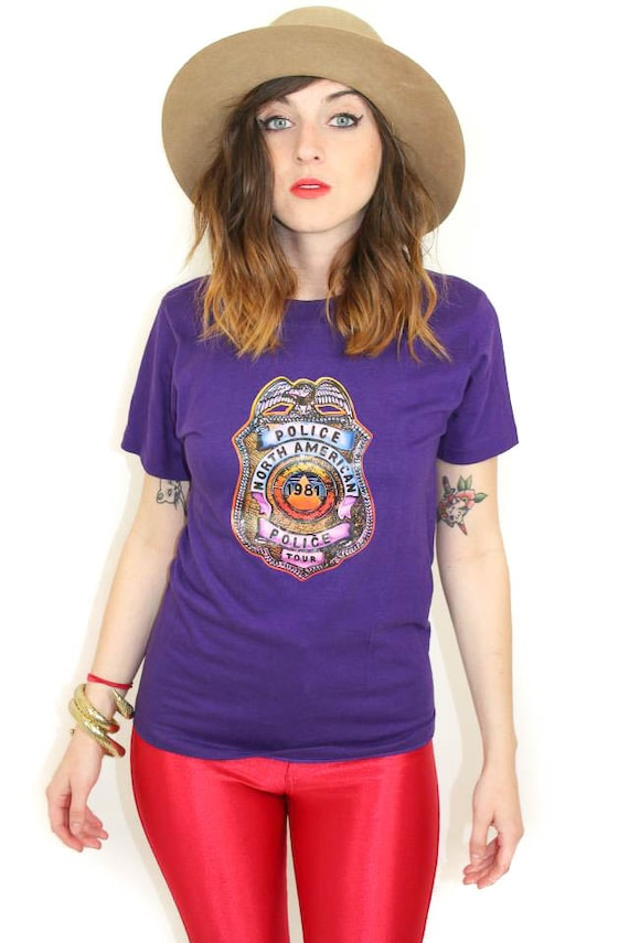 Vintage The Police Shirt 81 Tour Purple Concert Te
