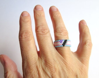 asexual ring etsy