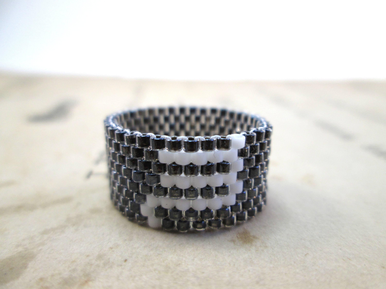 Scorpio Zodiac Beaded Ring Seed Bead