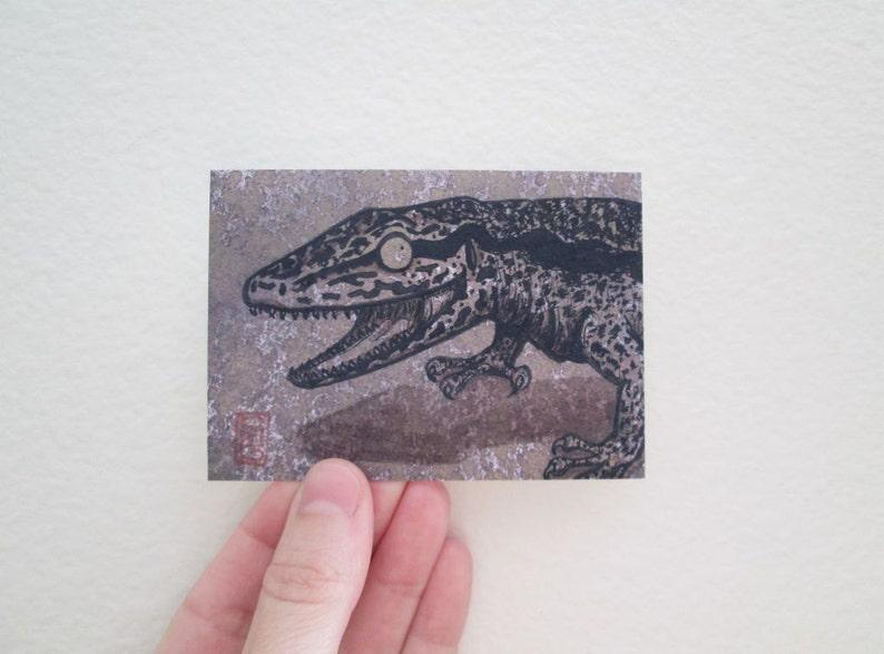 ACEO Happy Tegu Lizard Art Archival Print
