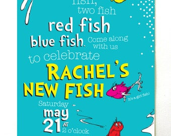 One Fish Two Fish Baby Shower Invitations