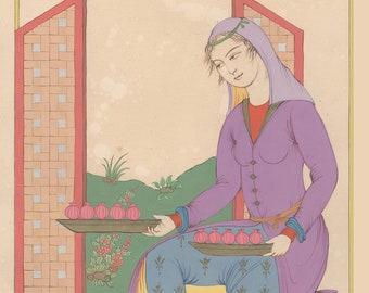 Persian painting-Persian miniature-La Justice/Tarot card / The Justice- Limited art Print / oriental painting/art print