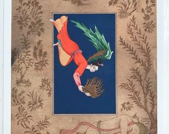 Persian painting - persian miniature-iranian painting-iranian miniature-LIMITED GICLEE PRINT 29.7x21 cm-Saadi's gift