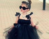 Audrey Hepburn Costume Breakfast at Tiffany 39 s Tutu Dress by Atutudes The Original for girl toddler baby Kids Girls Costumes