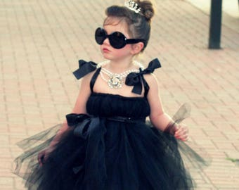 Audrey Hepburn Costume Breakfast at Tiffany's Tutu Dress by Atutudes The Original for girl toddler baby | Kids Girls Costumes