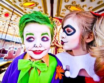 Harlequin Tutu Dress by Atutudes Batman Joker Harley Quinn Gotham Arkham Asylum Halloween Costume Dress Up