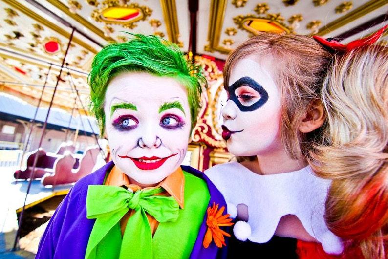 Halloween Joker And Harley Quinn Costumes.Halloween Costume Harley Quinn Costume By Atutudes Harley Quinn Halloween Costume Kids Girls Costume