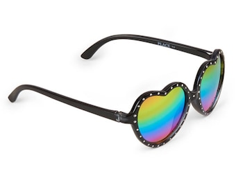 Rainbow Heart Sunglasses for Girls Ages 2-4