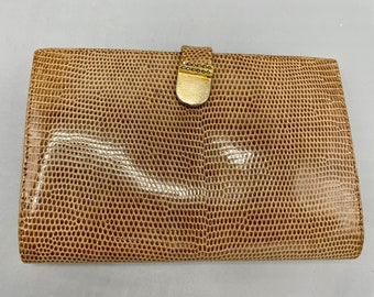 Caramel, Brown, Eel Skin Wallet, New Old Stock, Made in Italy
