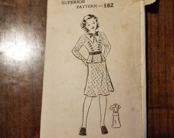 Young lady's vintage Sears, Roebuck and Co. Superior Pattern 182