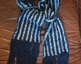 Reproduction 1862 Scarf for a Gentleman, hand dyed yarn